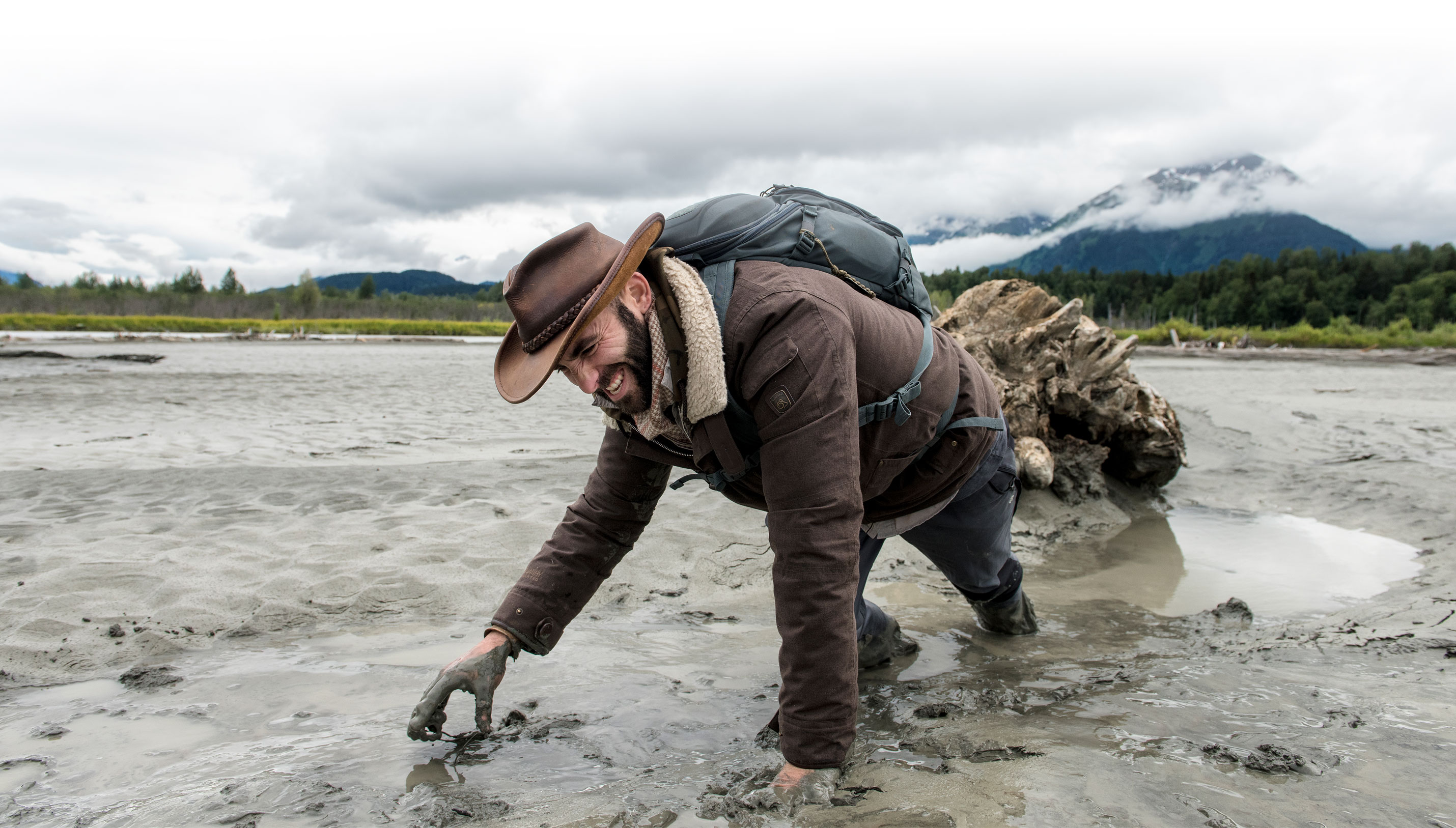 Coyote Peterson in the mud!